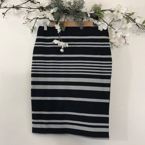 Old Navy Striped Pencil Skirt - M